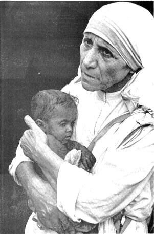 "Mother Teresa. ""If we have no peace, it is because we have forgotten that we belong to each other."""