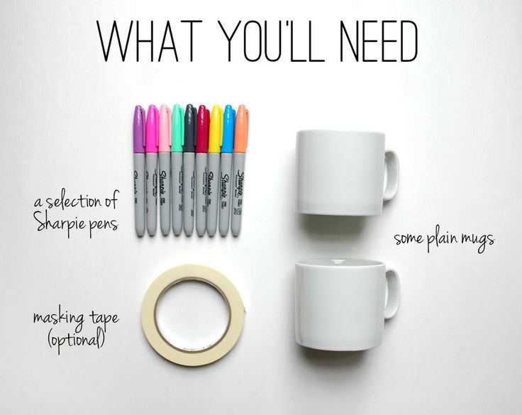 Design your own sharpie mugs