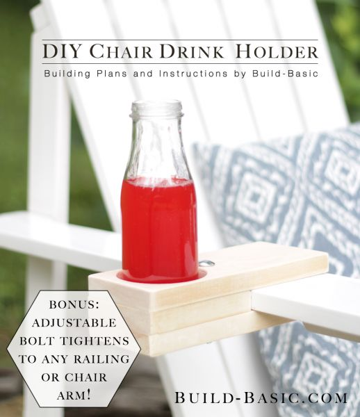 15 diy chair drink holder