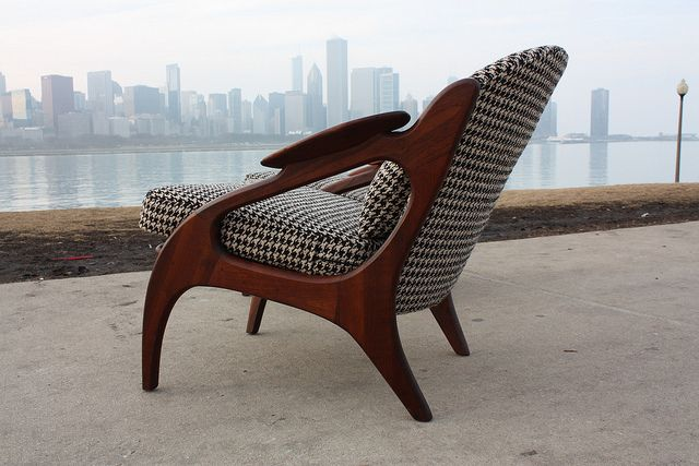 Adrian Pearsall Walnut Lounge Chair 2249-C (Craft Associates, 1960's) by Kinzco, via Flickr