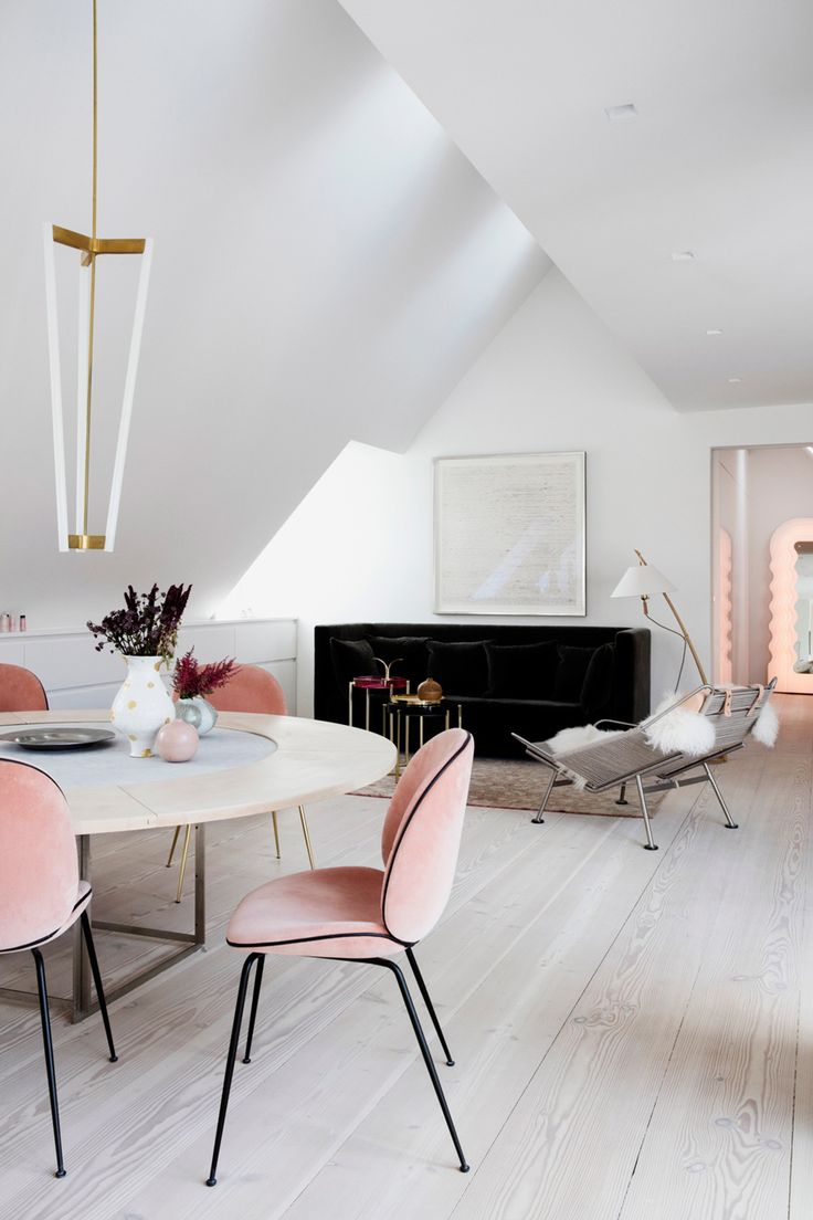 office chair conference dining scandinavian design aac22. Cosy Minimalism With Blush Pink Beetle Chairs In The Stunning Home Of - Editor Chief Featured Latest Issue Photo // Styling Office Chair Conference Dining Scandinavian Design Aac22 O