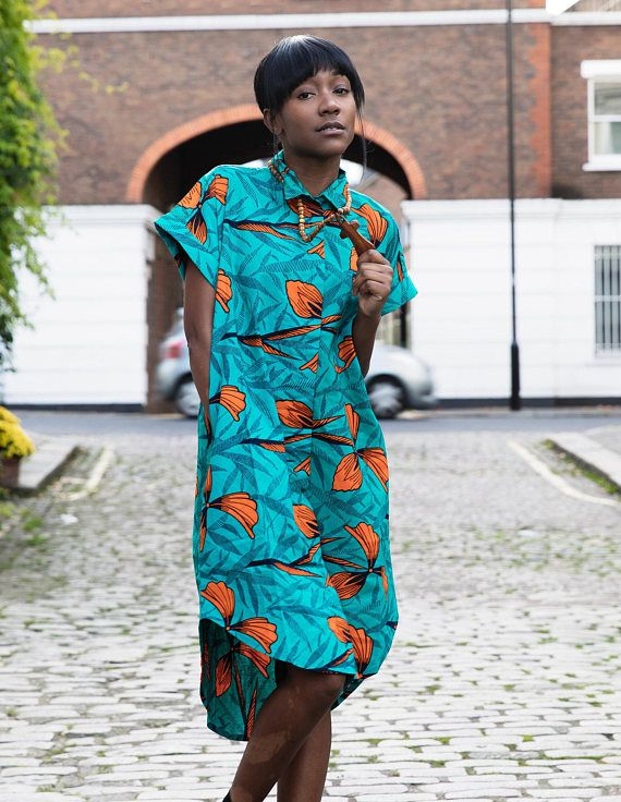 Our African Shirt Dresses are for all the print lovers out there. The fitted and comfy and longline design accentuates every detail of their bold yet elegant prints. Feel Good in our clothing, knowing that we provide a positive social impact on the economy in West Africa. We source and