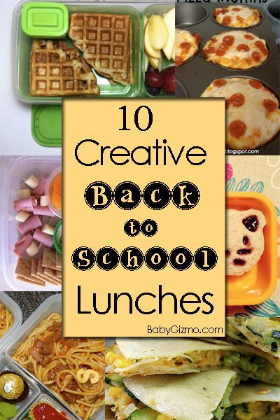 10 Creative Back to School Lunches. I love these fun ideas for children's lunches. Back to school can be a drab time of year but adding a little excitement can make a big difference.