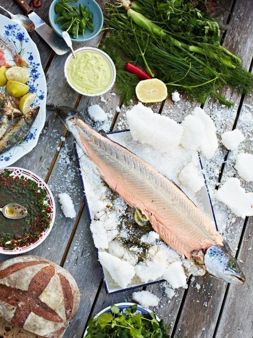 Whole baked salmon in salt   Jamie Oliver   Food   Jamie Oliver (UK)