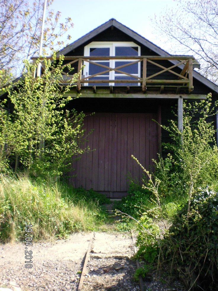 """The boathouse, West Wittering, overlooking Chichester Harbour, which belonged to Henry Tonks, prof at the Slade School of Art.: """"It was a large, disused corrugated-iron life-boat house with immense double doors ... Duncan (Grant) slept and worked there ...""""  (David Garnett, in The Flowers of the Forest)"""