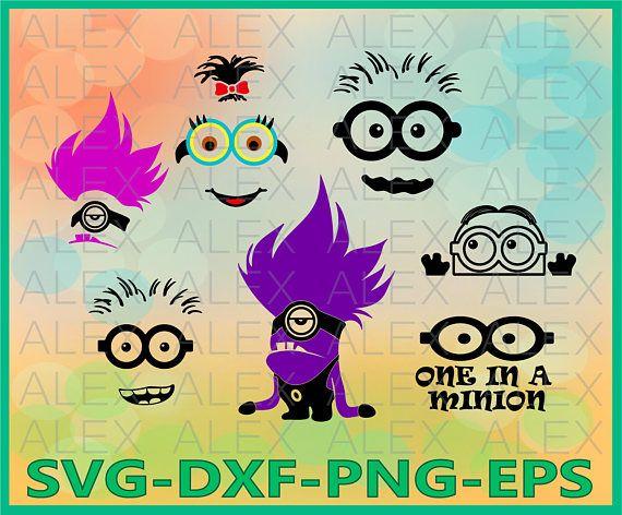 70% OFF Minions faces SVG Minions SVG Despicable me Svg
