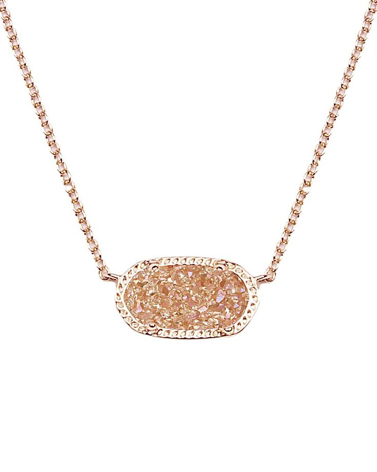 Elisa Pendant Necklace in Champagne Drusy - Kendra Scott Jewelry. Coming October 15!