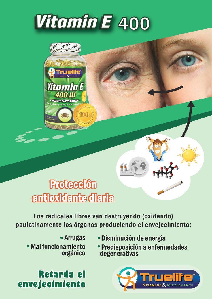 Vitamin E400 Retarda el envejecimiento...!