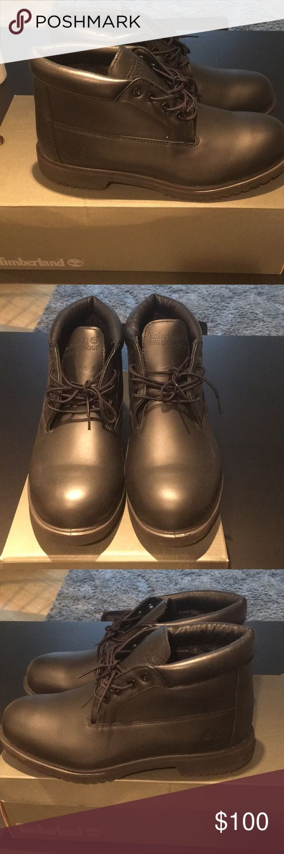 Black Timberland Chukka Boots Only worn once!! Excellent Condition | Waterproof $65 if you pal me Timberland Shoes Chukka Boots