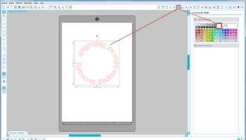 Ecrire un texte vertical sous Silhouette Studio