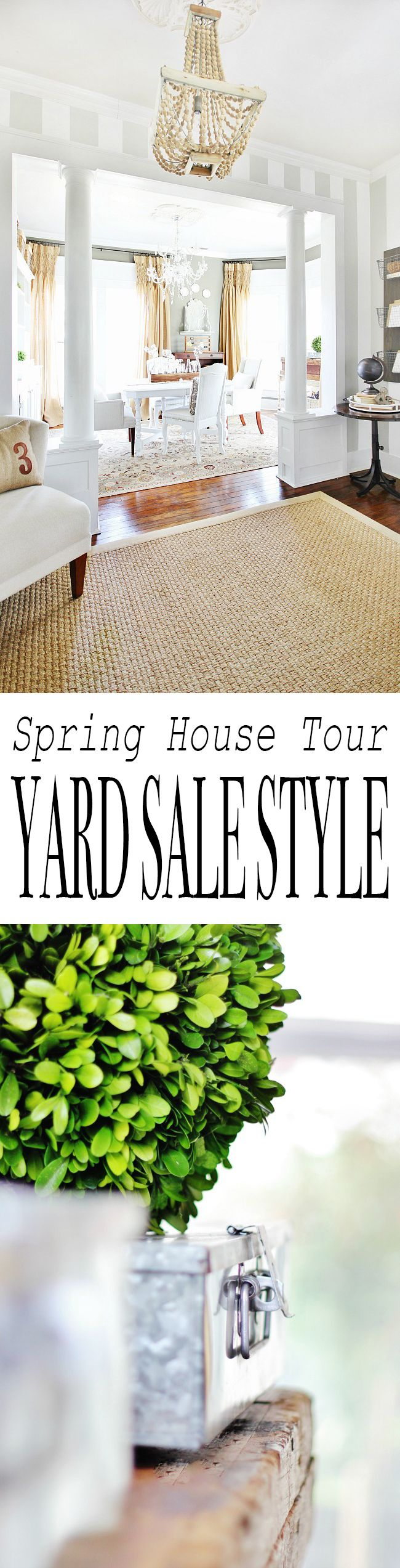 I'm sure it's spring home tour sharing day somewhere and today I wanted to take a walk through mine. Except. Except I wanted to do things a little differently (this is the part where you nod your head and tell me you are not surprised)