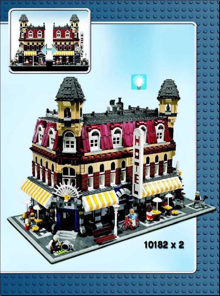 Town Cafe Corner [Lego 10182] in 2020 Lego, Cafe, Lego