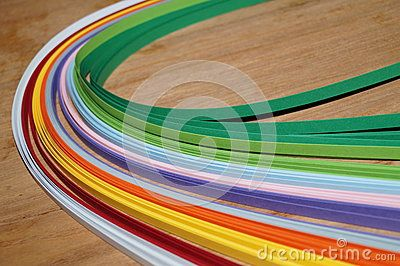 Wallpaper from colorful ribbons of paper Quilling