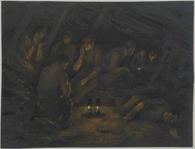 Mijnwerkers in Schacht   Herman Heijenbrock