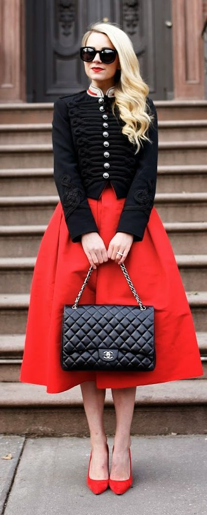 Street style Chic / karen cox.  Military Officer's Jacket by Atlantic - Pacific