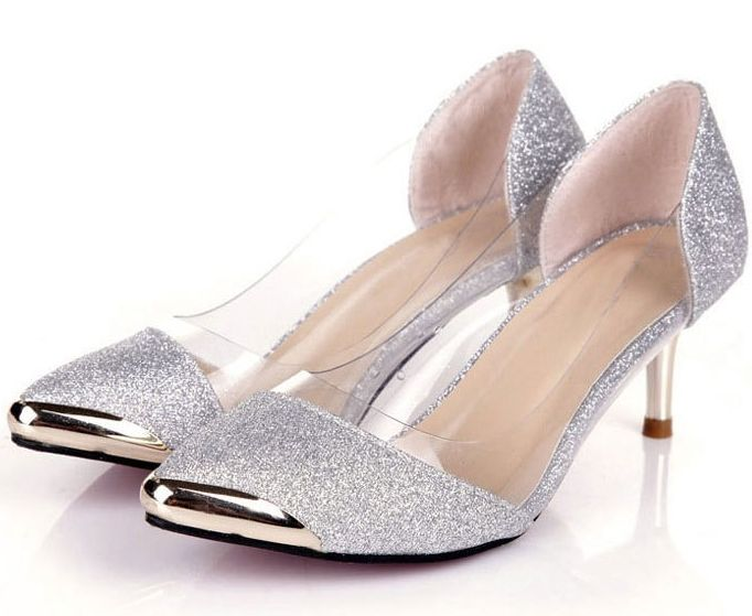 Cheap Women's Pumps, Buy Directly from China Suppliers:    Womens Shoes Spring 2015 Silver Shoes Low Heel Womans Pumps Fashionable Women's Shoes Dress Sapatos Femininos