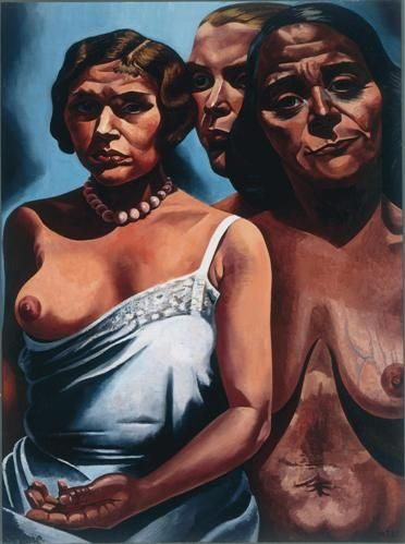 Female Figures, 1931-1932, collection Van Abbe Museum, Eindhoven - Charley Toorop, Dutch artist. Strong women.