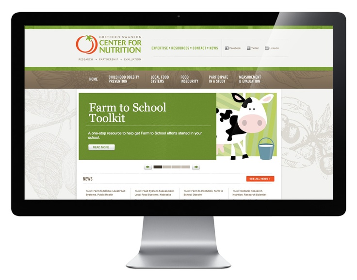 Center for Nutrition | Grain & Mortar | Strategy + Branding + Design