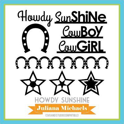 Howdy Sunshine | Free Cut Files