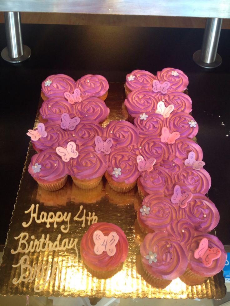 Number 4 Pullapartcupcakes Cupcakes Cupcakesha