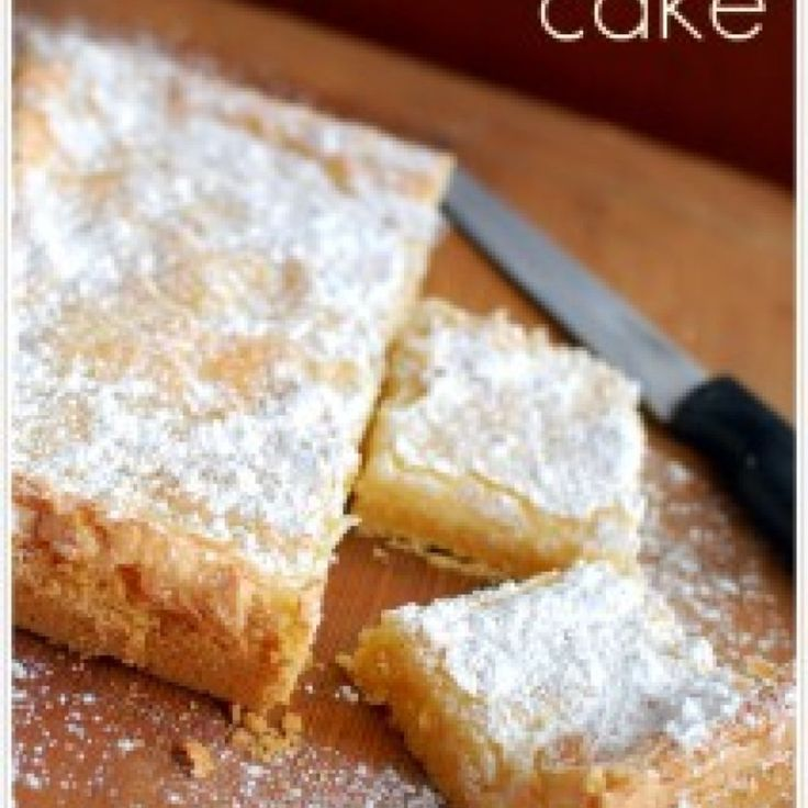St. Louis Gooey Butter Cake. Just had a brownie version of this and ...