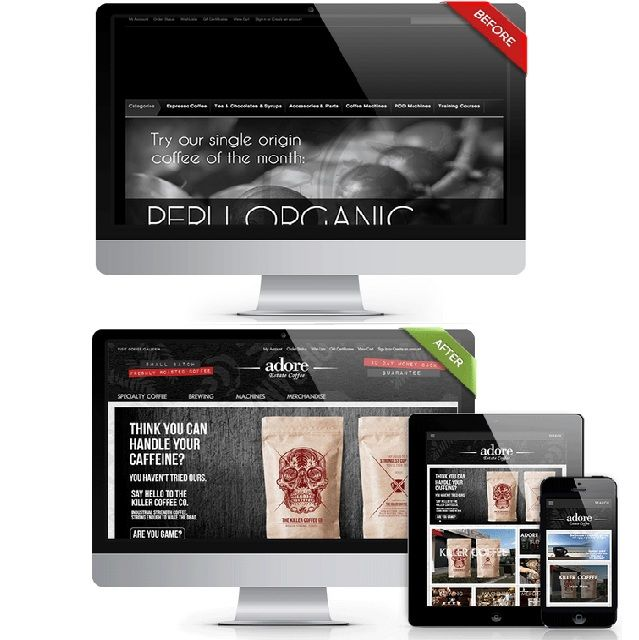 iAdore Estate coffee website.  Get in touch for a free design mockup of your #onlinestore .  #webdesign #webdeveloper