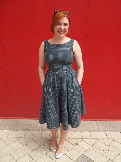 Inspired by Project Runway, this fashionista made a fabulous garment using Simplicity pattern 2444