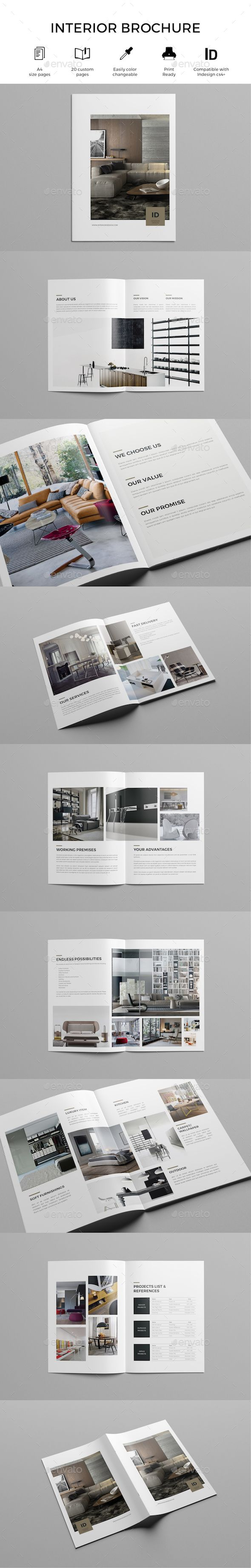 Interior Design Brochure Template InDesign INDD Download Here Graphicriver