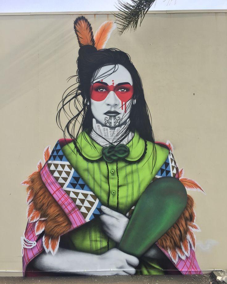 Impactante obra creada por el artista urbano Fin DAC ubicada en Mount Maunganui, Nueva Zelanda.