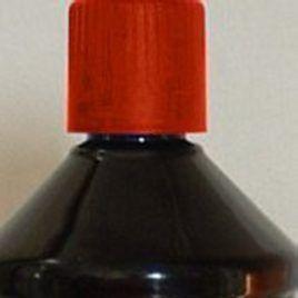 Huile de paraffine rouge pour lampe à huile ou torche de jardin.