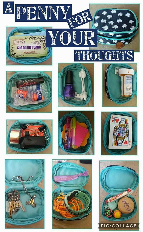 Thirty-One Cutie Case uses. Organize your purse, jewelry, toys, electronic cords, and more. Check this and other awesome bags at www.jennpennbags.com