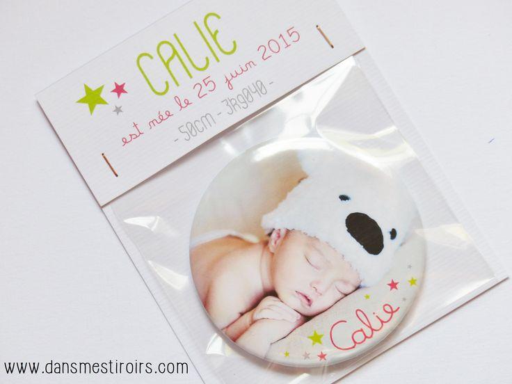 Magnets PHOTO - Faire-parts naissance originaux faits par www.dansmestiroirs.com