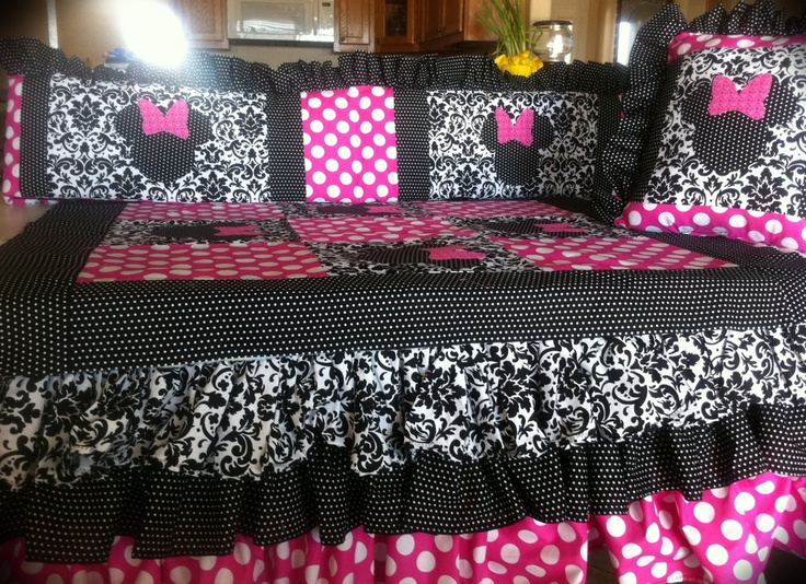 Minnie Mouse Crib or Toddler Bedding. $375.00, via Etsy.