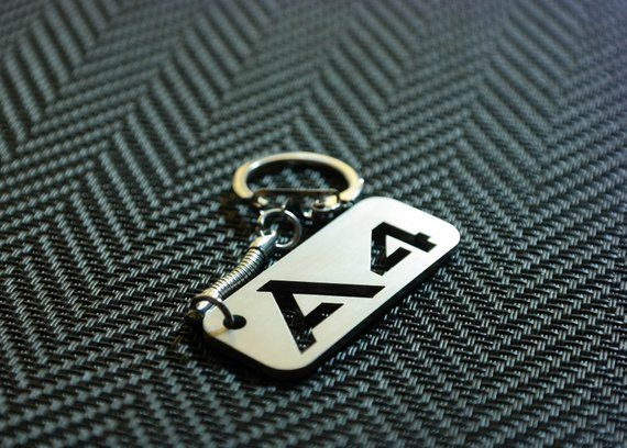 Audi A4 Keychain A4 Keyring Audi Key Tag Keychain for A4 Stainless Steel Key chain Lasercut Key Ring Personalized Keychain A4