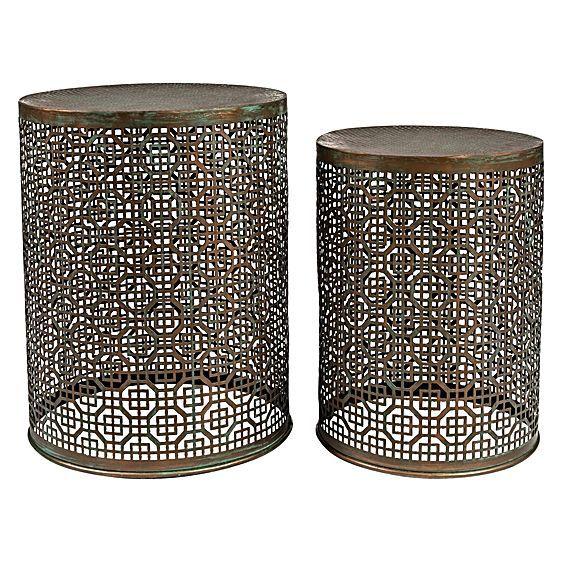 Create an exotic highlight to your living space with the Rabat Stool (Set of 2) from Casa Uno.