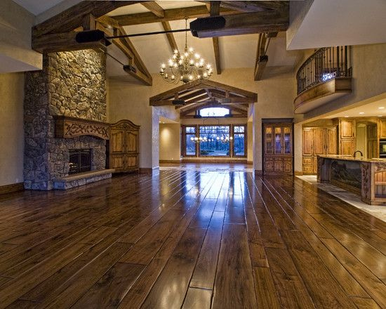 Best 25 rustic house plans ideas on pinterest mountain for Open floor plan barn homes