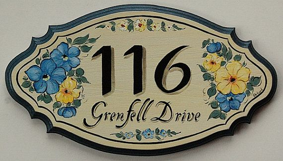 Personalized Address Sign Large House Number by decorativeart, $64.00