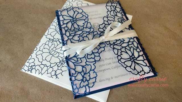 DIY Wedding Invitations with Video Tutorial featuring the So In Love / So Detailed Bundle by Stampin' Up!