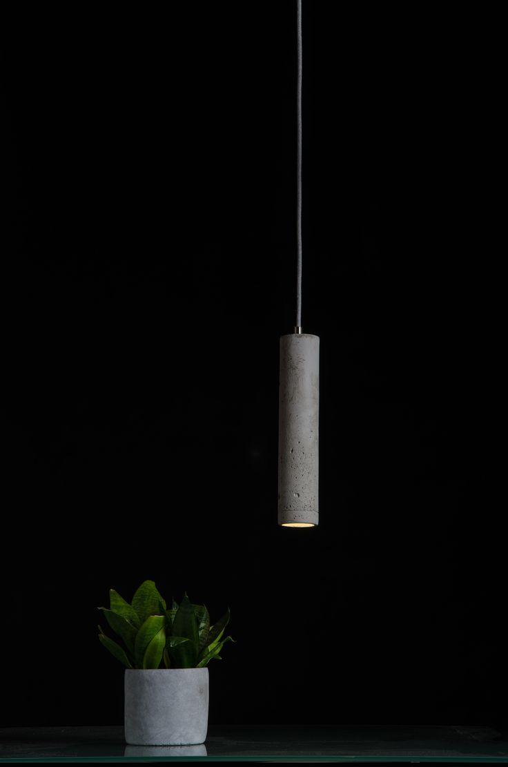 Kalla 31 LED concrete lamps - grey colour of concrete - hand made in Poland #concrete #lighting #design #interior