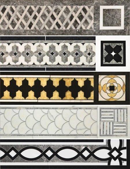 marble flooring borders