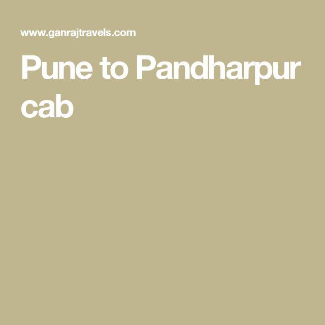 Pune to Pandharpur cab