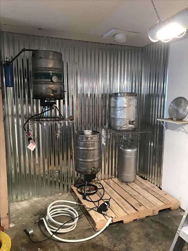 Check out my nearly finished home brewery! -Nate Cole brew sculpture brewing setup