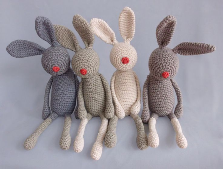 funny crochet bunnies