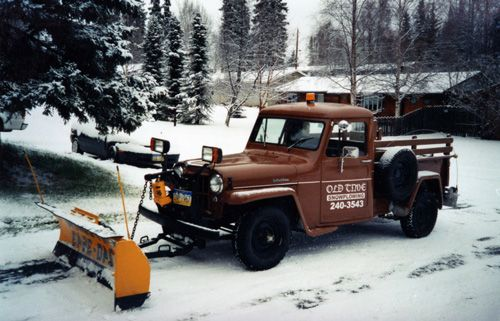 Plow For Jeep Wrangler >> 1959 Willys Jeep Pickup with snow plow | Movin' Snow ...
