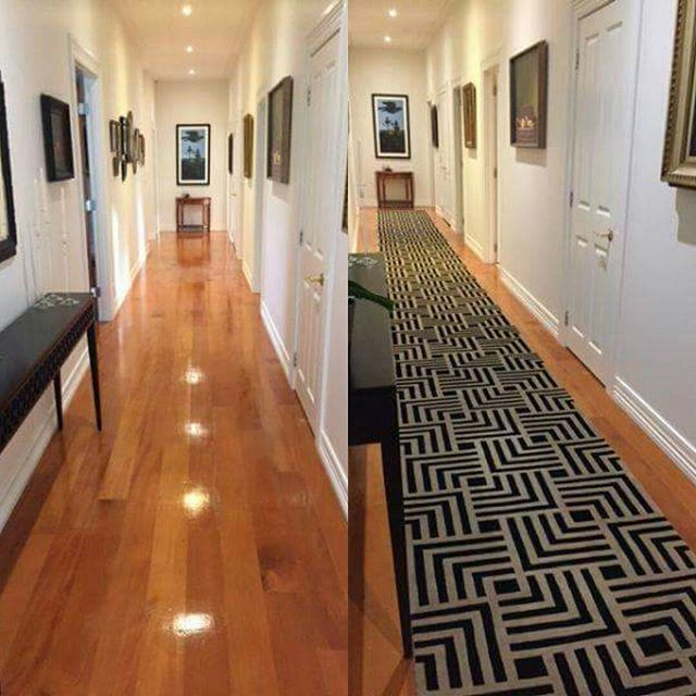 This is the amazing custom Athens runner, now in its residence, it looks even more spectacular than when we photographed it in our showroom. This is definitely a statement piece. #athens #geometricpattern #geometric #runnerrug #rugdesign #hallway #sourcemondialNZ