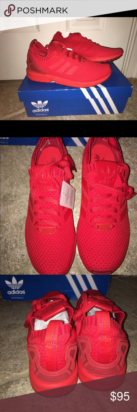 Adidas ZX Flux Primeknit - Red Adidas ZX Flux Primeknit - Red; men's; brand new with box never been worn Adidas Shoes Sneakers