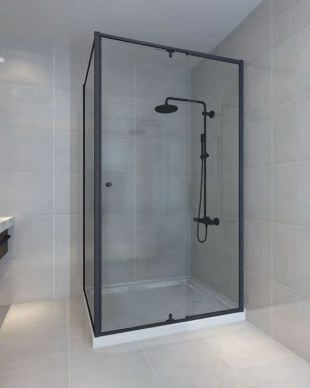 Lorna Frame Shower Screen 1000mm Actual Black Framed Shower Shower Screen Bathroom Remodel Shower