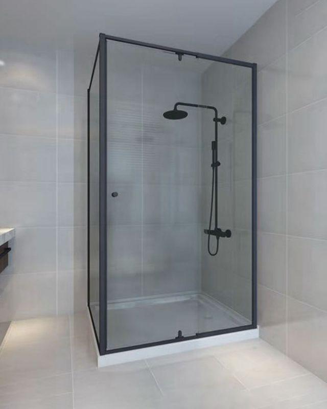 Lorna Frame Shower Screen 1000mm Black Framed Shower Shower Screen Bathroom Remodel Shower