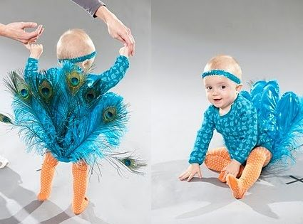 How-To: DIY Peacock Costume by CreativelyChristy. Adorable!
