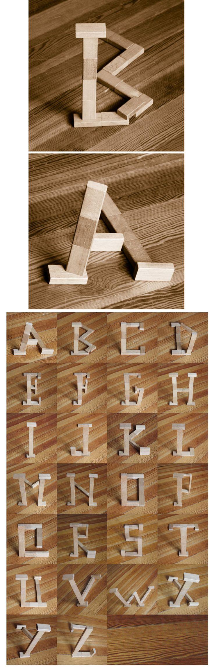Block Type Experiment  O fotógrafo Marc Böttler, criou um alfabeto com ilusão de ótica, brincando com ângulos da fotografia.